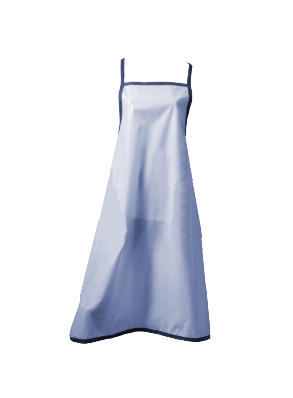 Duschförkläde blå